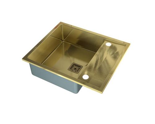 """SZR-5062 bronze Zorg Inox Мойка для кухни, из """"нержавейки"""", цвет бронза."""