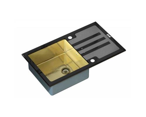 Мойка для кухни ZorG GL-7851-BLACK-BRONZE цвет бронза и черный