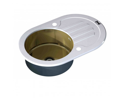 Мойка для кухни ZorG GL-7851-OV-WHITE-BRONZE цвет белый и бронза