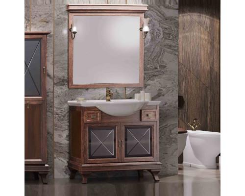 Комплект мебели для ванной комнаты Opadiris Борджи 95 цвет светлый орех