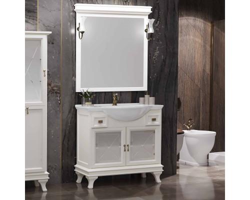 Комплект мебели для ванной комнаты Opadiris Борджи 95 цвет слоновая кость
