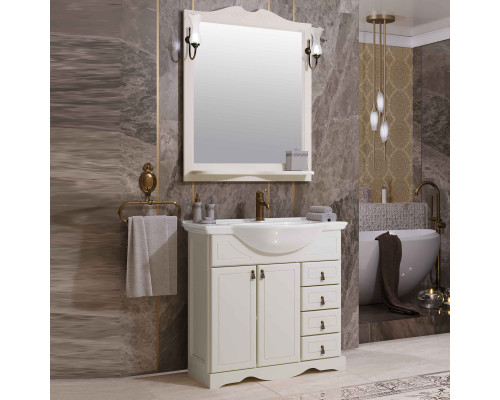 Комплект мебели для ванной комнаты Opadiris Клио 70 цвет белый матовый