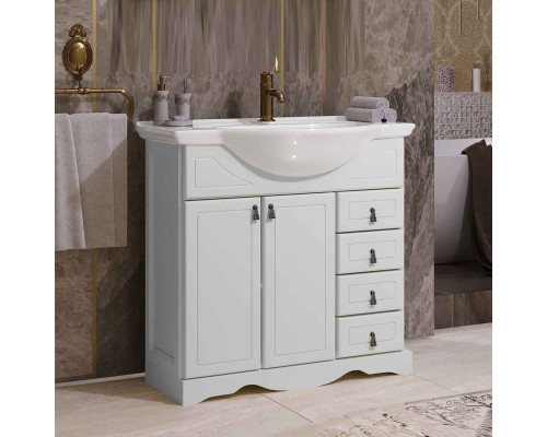 Тумба для ванной комнаты Opadiris Клио 70 цвет белый матовый