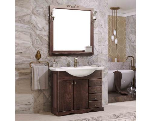 Комплект мебели для ванной комнаты Opadiris Клио 80 цвет орех антикварный