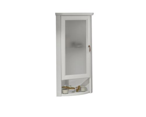 Шкаф подвесной угловой Opadiris Клио 32 L цвет белый матовый