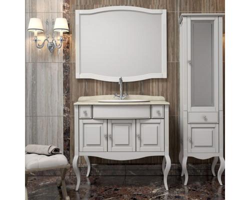 Комплект мебели для ванной комнаты Opadiris Лаура 100 цвет белый матовый