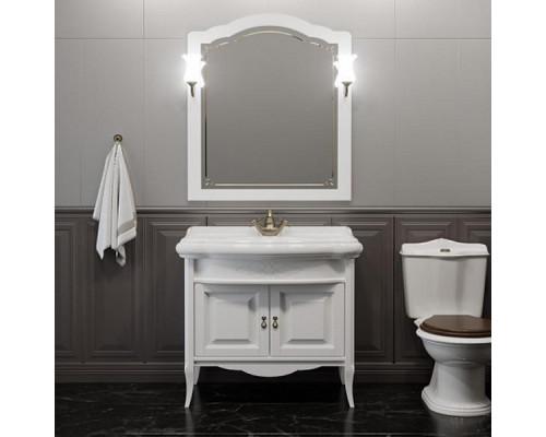 Комплект мебели для ванной комнаты Opadiris Лоренцо 80 цвет белый матовый