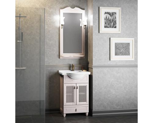 Комплект мебели для ванной комнаты Opadiris Тибет 50 см беленый бук weiss