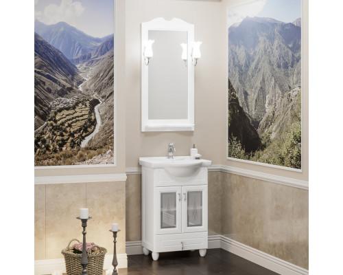 Комплект мебели для ванной комнаты Opadiris Тибет 50 см белый матовый (9003) со стеклом