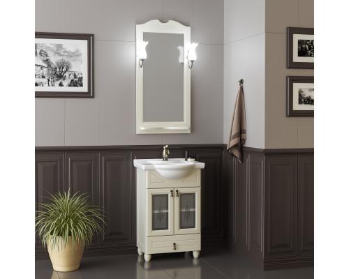 Комплект мебели для ванной комнаты Opadiris Тибет 50 см слоновая кость (1013) со стеклом