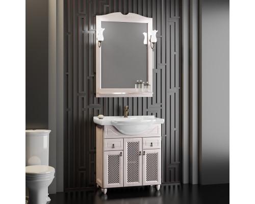 Комплект мебели для ванной комнаты Opadiris Тибет 70 см беленый бук