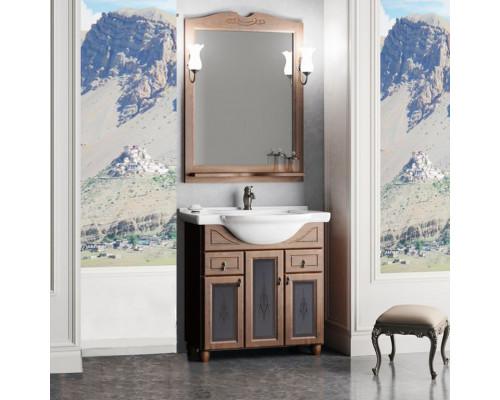Комплект мебели для ванной комнаты Opadiris Тибет 70 см нагал со стеклом
