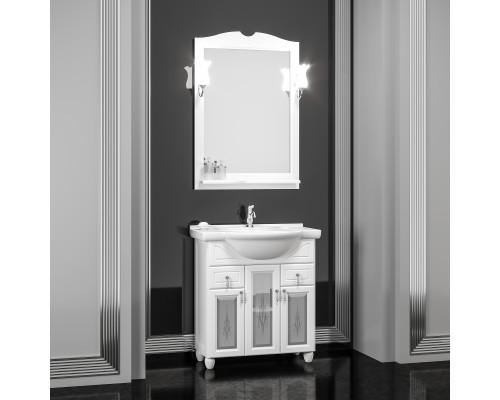 Комплект мебели для ванной комнаты Opadiris Тибет 70 см белый матовый (9003) со стеклом