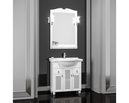 Комплект мебели для ванной комнаты Opadiris Тибет 70 см белый матовый (9003)