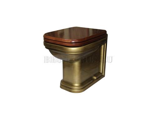 Унитаз приставной Kerasan Waldorf 411801 bz цвет бронза