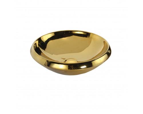 MN045.00010 Creavit Gold Раковина накладная, керамика позолоченная, цвет золото.