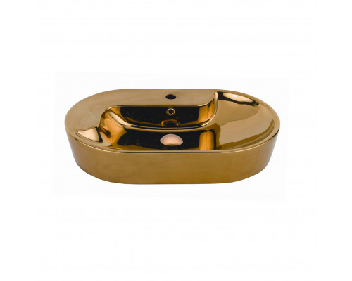 TP172.00010 Creavit Gold Раковина накладная, керамика позолоченная, цвет золото.