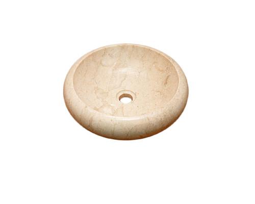 26500 Indo Luna Cream Раковина накладная, круглая, материал мрамор, размер 40 см., цвет кремовый.