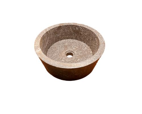 37500 Indo Faisal Grey Раковина накладная, круглая, материал мрамор, размер 40 см., цвет серый.