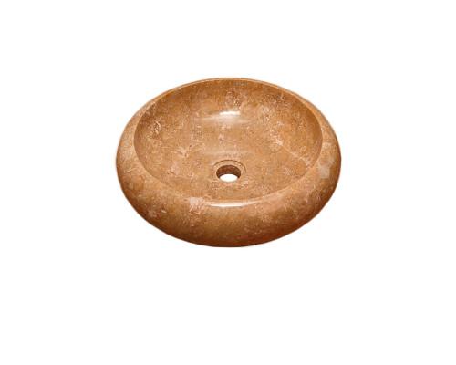 24500 Indo Bavian Sunset Раковина накладная, круглая, материал оникс, размер 40 см., цвет коричневый.