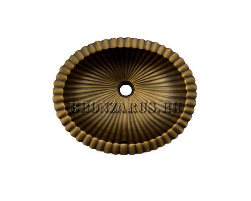 BS-Z80371 Koozee Раковина врезная, из бронзы, цвет бронза.