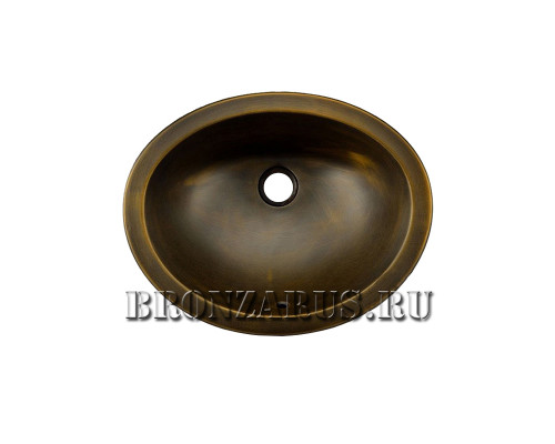 BS-Z80383 Koozee Раковина врезная, из бронзы, цвет бронза.