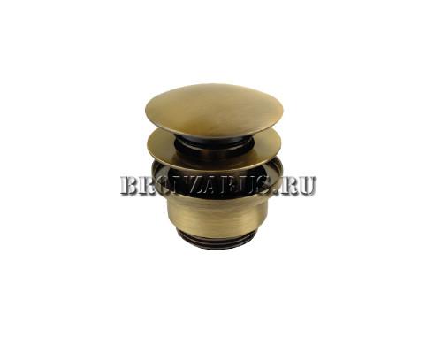 VR.SBR-8002.BR Veragio SBORTIS Донный клапан нажимной Click без перелива, бронза.