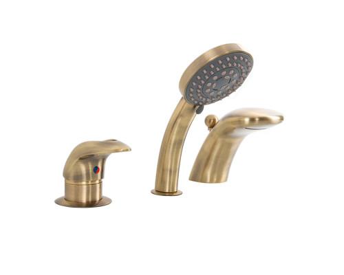 AS1204B Alpen Cobra Смеситель термостат на борт ванны, на три отверстия, цвет бронза.