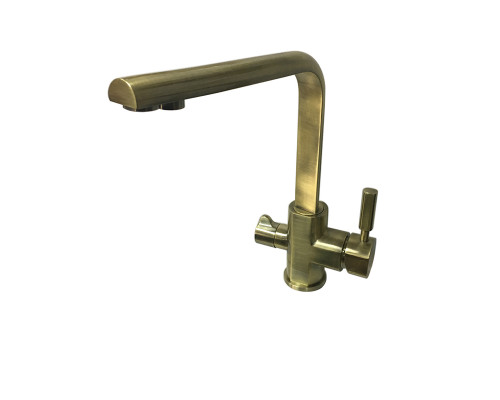 GZ16034D Ganzer Rain Смеситель для кухни с фильтром, бронза.