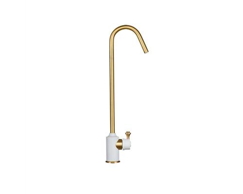 KG2614 WHITE ALABAS-BR Kuppersberg AMENO Кран для чистой питьевой воды, белый алибастр и бронза