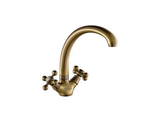 BR71420622 Zollen BREMEN Смеситель для кухни, высокий излив, бронза.