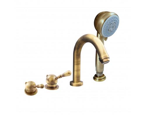 L062.5PSM RavSlezak Labe Смеситель термостат на борт ванны, на четыре отверстия, цвет бронза.
