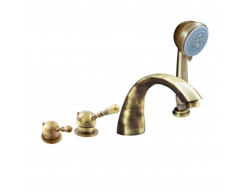 L069.5PSM RavSlezak Labe Смеситель термостат на борт ванны, на четыре отверстия, цвет бронза.