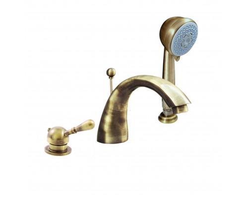 L069.5SSM RavSlezak Labe Смеситель термостат на борт ванны, на три отверстия, цвет бронза.