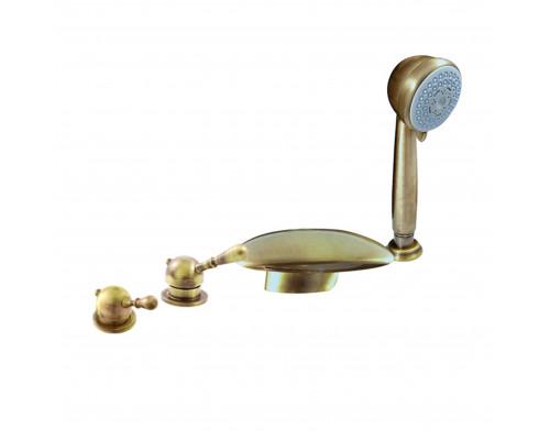 L070.5PSM RavSlezak Labe Смеситель термостат на борт ванны, на четыре отверстия, цвет бронза.