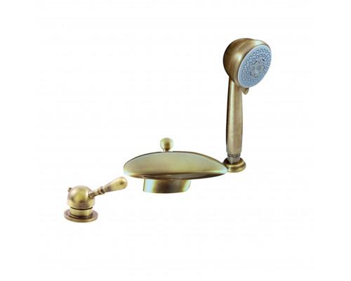 L070.5SSM RavSlezak Labe Смеситель термостат на борт ванны, на три отверстия, цвет бронза.