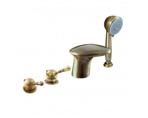 L071.5PSM RavSlezak Labe Смеситель на борт ванны, на четыре отверстия, цвет бронза.