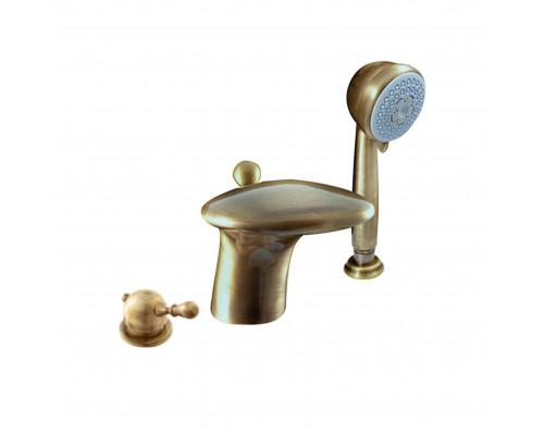 L071.5SSM RavSlezak Labe Смеситель на борт ванны, на три отверстия, цвет бронза.