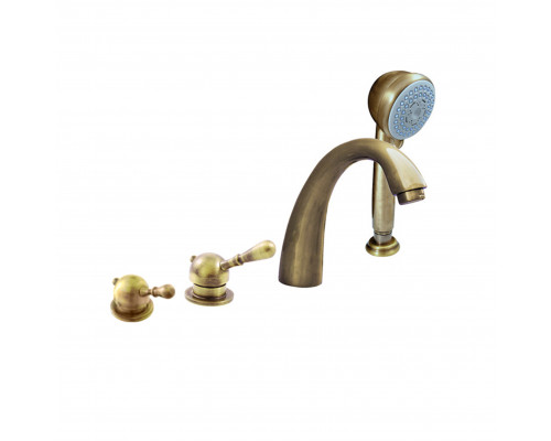 L076.5PSM RavSlezak Labe Смеситель на борт ванны, на четыре отверстия, цвет бронза.