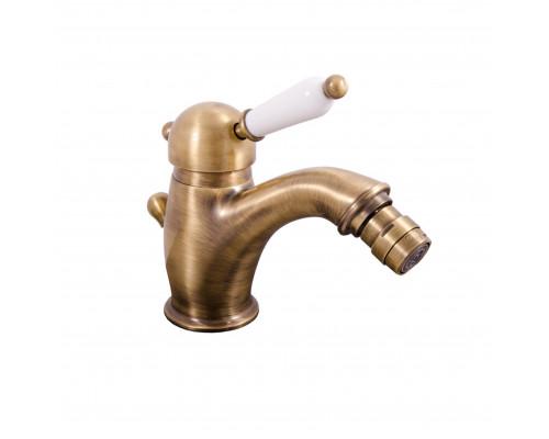 L545.5SM RavSlezak Labe Смеситель однорычажный для биде, с донным клапаном, цвет бронза.