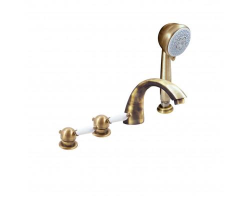 L569.5PSM RavSlezak Labe Смеситель термостат на борт ванны, на четыре отверстия, цвет бронза.