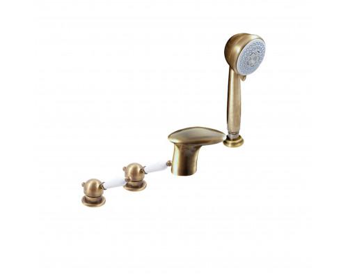 L571.5PSM RavSlezak Labe Смеситель на борт ванны, на четыре отверстия, цвет бронза.