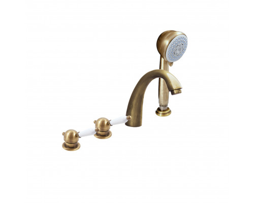 L576.5PSM RavSlezak Labe Смеситель на борт ванны, на четыре отверстия, цвет бронза.