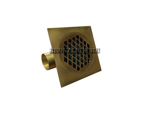 GZ500 Ganzer Desc Трап душевой, 15x15 см., бронза.