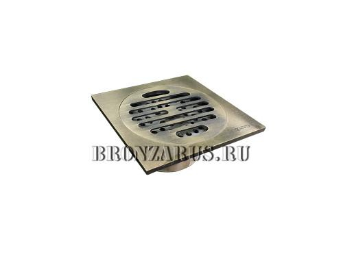 GZ600 Ganzer Desc Трап душевой, вертикальный, 15x15 см., бронза.
