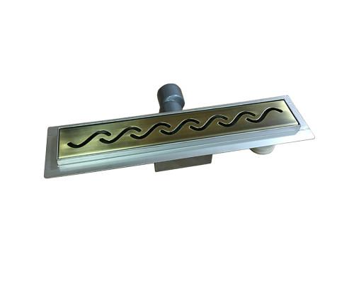 GZ700 Ganzer Desc Трап душевой, прямоугольный, 70 см., бронза.