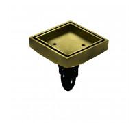 """F07Q5_BR Magdrain Трап с магнитным затвором, """"сухой"""", по вкладку плитки, цвет полированная бронза."""