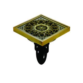 """F08Q5-H Magdrain Трап с магнитным затвором, """"сухой"""", цвет полированная латунь."""