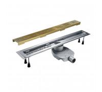 800 C Zorg Linear Трап душевой, прямоугольный, защита от запаха 80 см., бронза.