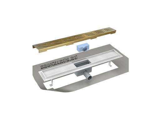 ZR T3 800m 100 Zorg Linear Трап душевой, прямоугольный, защита от запаха 80 см., бронза.
